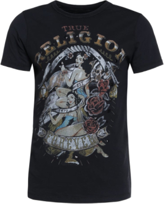 True Religion PIN UP Tshirt med tryck black