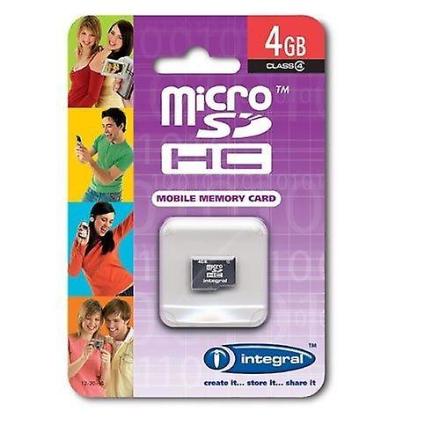 Integral Integrert 4Gb Class 4 microSDHC kort