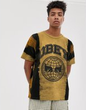 Obey Icon Planet tie dye t-shirt in yellow - Gold