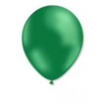 100 Gröna metalliska Ballonger 29cm One-size