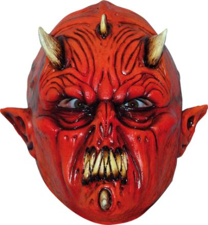 Djävul med flera horn Mask Vuxen Halloween One-size