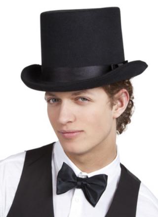 Hög hatt svart vuxen One-size