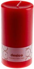 Desico Pöytäkynttilä, 14 cm kirkkaanpunainen 3 kpl