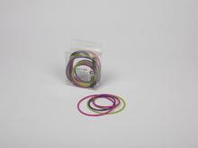 Mette Ditmer Puzzle-silikonirenkaat värilajitelma: violetti, pinkki ja vihreä