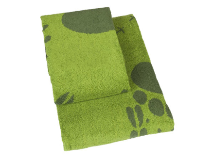 Brands Scandinavia Steps-kasvopyyhe, 50 x 70 cm vihreä