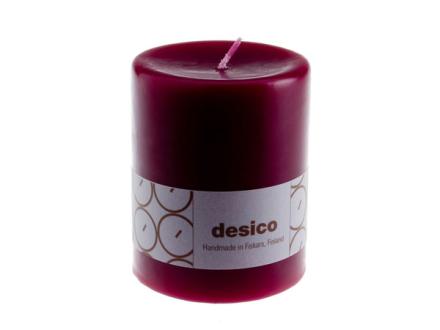 Desico Pöytäkynttilä, 10 cm viininpunainen 6 kpl