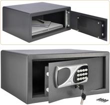 HI pengeskab med elektrisk lås til hotel 42 x 33 x 20 cm mørkegrå