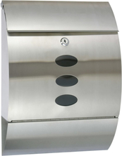 HI Brevlåda rostfritt stål 30x12x40 cm