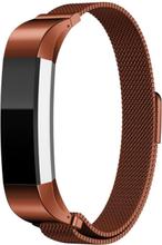 Fitbit Alta klokkereim av rustfritt stål m. magnet - Kaffe