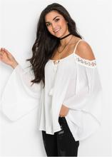 Schouderloze blouse