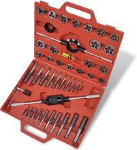 vidaXL Gängverktygssats 45 delar