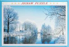 Puslespil med 1000 brikker - Vinter natur motiv
