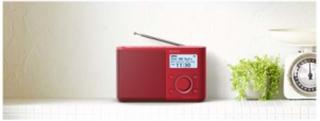 Bærbar radio XDR-S61D - DAB bærbar radio - Mono - Rød