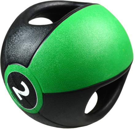 Pure2Improve Medicinboll med handtag 2 kg grön