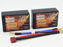 RC-Bil (Li-po) batteri 6000mAh 100C 2S3P (Saddle)