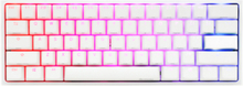 One 2 Mini Pure White - Cherry Red RGB - Gaming Tastatur - Uden Numpad - Nordisk - Hvid
