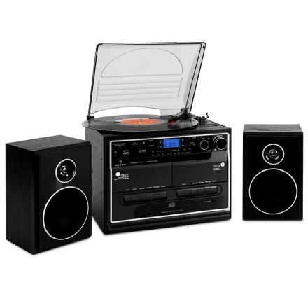 388-BT stereoanläggning skivspelare kassett bluetooth