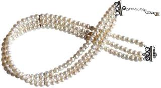 3-slagen pärlhalsband TORONTO halsband Pearl halsband Pearl halsband