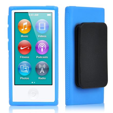 TRIXES blå TPU klipp bærevesken for ny Eple iPod Nano 7 generasjon ...