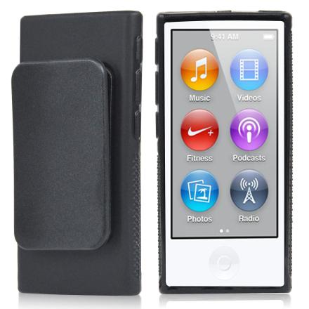TRIXES svart TPU klipp bærevesken for Eple iPod Nano 7 generasjon d...