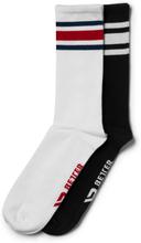 Better Bodies Brooklyn Socks, 2-pack, black/red, xxlarge Strumpor unisex