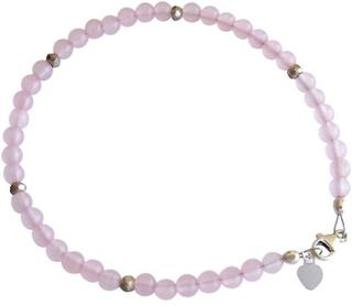Armband armband Rosenkvarts armband 925 Silver rosa ädelsten armband