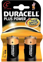 Duracell Plus C Alkaline Batterier - 2 stk.