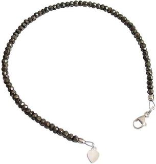 Pyrit armband armband ädelsten armband pyrit armband 925 Silver svart