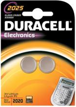Duracell Electronics CR2025 Lithium Batteri - 2 stk.