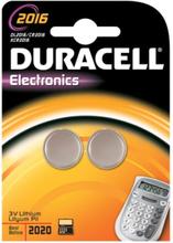 Duracell Electronics CR2016 Lithium Batteri - 2 stk.