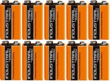 Duracell Industrial 9V Alkaline Batterier - 10 stk.