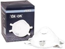 Støvmaskje Ox-On FFP3NR m/ventil, 5 stk