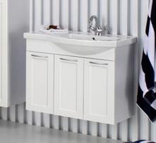 Noro Fix møbelpakke med låger og højrevendt vask 76 x 40 cm i mat hvid