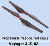 Plast röd mössa Propellors för Voyager 3 (2 st, CW