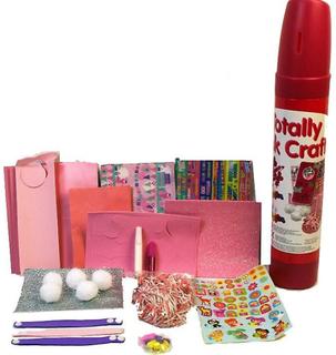 Helt rosa tub av hantverk Kids Art & hantverk att göra Kit