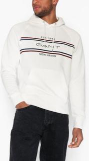 Gant D1. GANT Stripe Sweat Hoodie Gensere Eggeskall