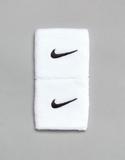 Nike Training Swoosh Wristband 2-Pack In White - W