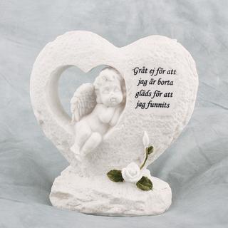 Gravsmyckning Hjärta med ängel inuti