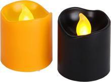 Halloweenljus med LED, 6-pack