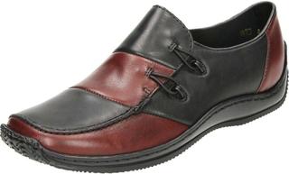 Rieker röd Rieker L1762-36, kvinnors Loafers UK 6.5/40