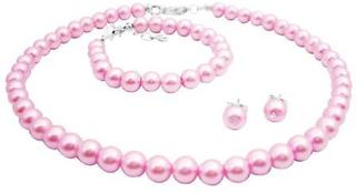 Rosa pärlor smycken dop pärlor smycken billiga smycken