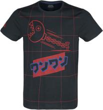 Nintendo - Super Mario - Chain Chomp -T-skjorte - svart, rød