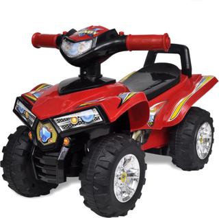 vidaXL Fyrhjuling för barn med ljud och ljus röd