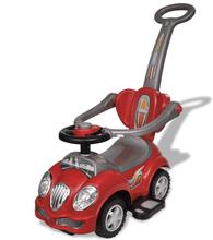 vidaXL Gåbil för barn med handtag Röd