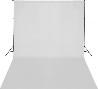 Bakgrundsstativ med vit duk, 500 x 300 cm