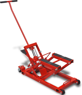vidaXL hydraulisk donkraft til motorcykel og ATV 680 kg rød