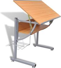vidaXL tegnebord til teenager 110x60x87 cm MDF egetræslook