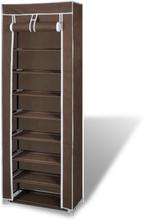 vidaXL Skoskåp överdrag 162x57x29 cm brun