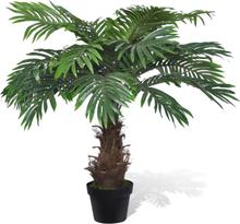 vidaXL Konstväxt Findadelpalm med kruka 80 cm