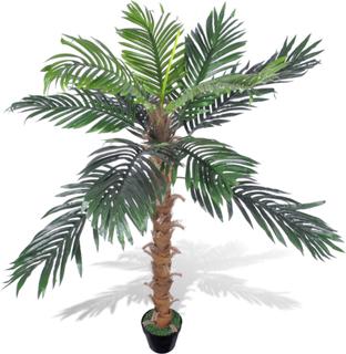 vidaXL Konstväxt Kokospalm med kruka 140 cm